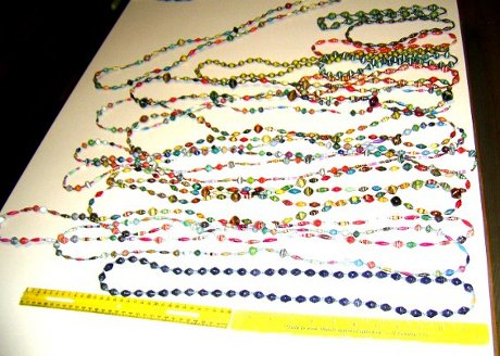 Assorted lengths of necklaces