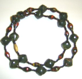 dark and ebony, small and larger paper bead necklace